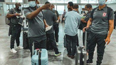 صورة بعثة الأهلي من ملعب محمد الخامس إلى مطار الدار البيضاء