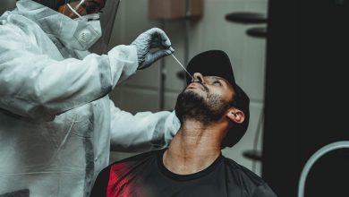 صورة مسحة طبية لمحمد الشناوي لكشف مدى إصابته بكورونا