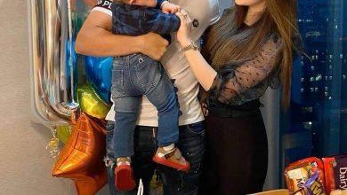 صورة بالصور| تريزيجيه يحتفل بعيد ميلاد نجله برفقة زوجته