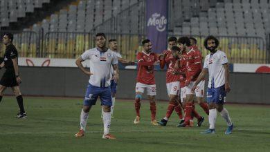 صورة وليد سليمان يسجل الهدف الأول للأهلي أمام أبو قير للأسمدة