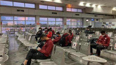 صورة بعثة منتخب الشباب تستعد للعودة للقاهرة وتصل مطار تونس