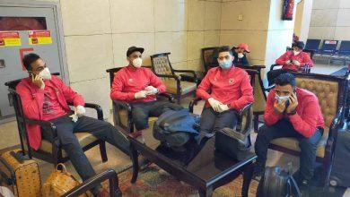 صورة توافد لاعبي الأهلي على مطار القاهرة