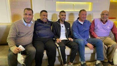 صورة الخطيب يزور الأهلي برفقة يعقوب السعدي