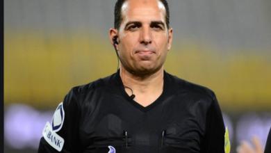 صورة سعيد حمزة حكم مباراة المقاولون العرب وإنبي