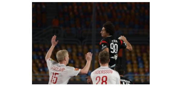 علي زين رجل مباراة الدنمارك في كرة اليد رغم الهزيمة